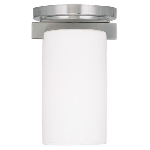 LIVEX Lighting 1320-91 Astoria Contemporary Flushmount in Brushed Nickel (1 Light)