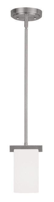 LIVEX Lighting 1321-91 Astoria Contemporary Mini Pendant in Brushed Nickel (1 Light)