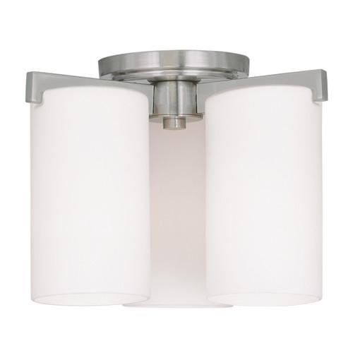 LIVEX Lighting 1324-91 Astoria Contemporary Flushmount in Brushed Nickel (3 Light)