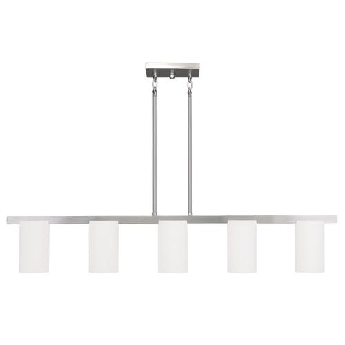 LIVEX Lighting 1327-91 Astoria Contemporary Chandelier in Brushed Nickel (5 Light)
