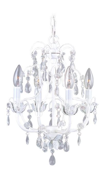 LIVEX Lighting 8193-60 Athena Chandelier in Antique White (4 Light)