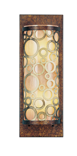 LIVEX Lighting 8684-64 Avalon Wall Sconce in Palacial Bronze with Gilded Accents (2 Light)