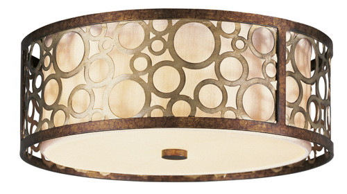 LIVEX Lighting 8688-64 Avalon Flushmount in Palacial Bronze with Gilded Accents (3 Light)