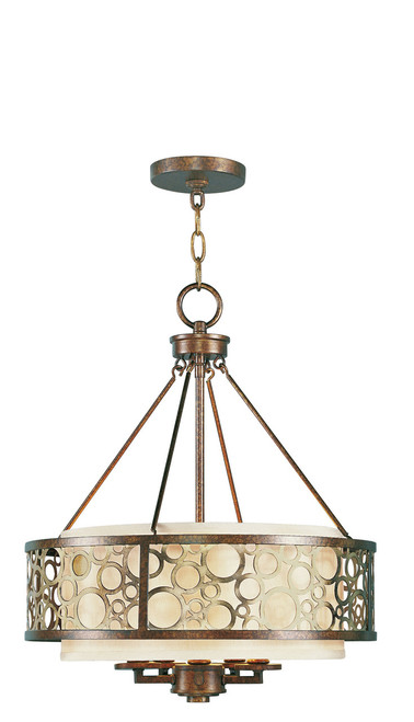 LIVEX Lighting 8675-64 Avalon Chandelier in Palacial Bronze with Gilded Accents (5 Light)
