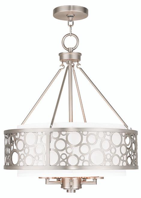 LIVEX Lighting 86795-91 Avalon Chandelier in Brushed Nickel (5 Light)