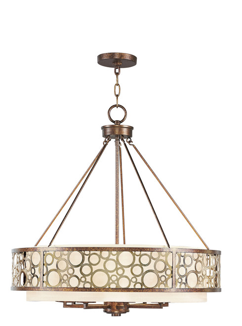 LIVEX Lighting 8678-64 Avalon Chandelier in Palacial Bronze with Gilded Accents (8 Light)