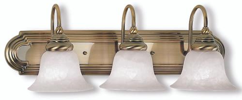 LIVEX Lighting 1003-01 Belmont Bath Light in Antique Brass (3 Light)