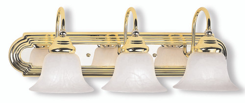 LIVEX Lighting 1003-25 Belmont Bath Light in Polished Brass & Polished Chrome (3 Light)