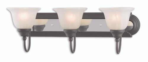LIVEX Lighting 1003-75 Belmont Bath Vanity in Bronze & Chrome (3 Light)