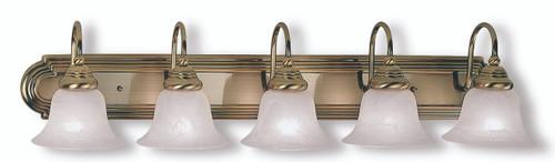 LIVEX Lighting 1005-01 Belmont Bath Light in Antique Brass (5 Light)
