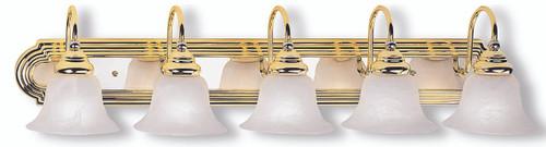 LIVEX Lighting 1005-25 Belmont Bath Light in Polished Brass & Polished Chrome (5 Light)