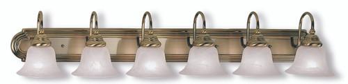 LIVEX Lighting 1006-01 Belmont Bath Light in Antique Brass (6 Light)