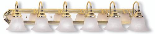 LIVEX Lighting 1006-25 Belmont Bath Light in Polished Brass & Polished Chrome (6 Light)