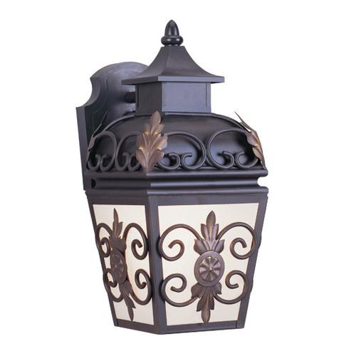 LIVEX Lighting 2191-07 Berkshire Outdoor Wall Lantern in Bronze (1 Light)