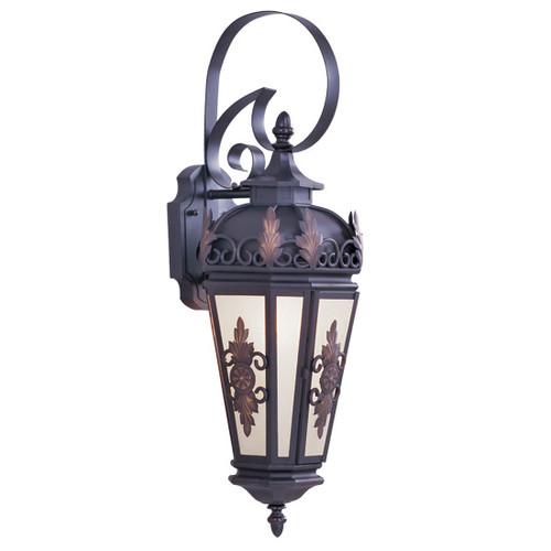 LIVEX Lighting 2192-07 Berkshire Outdoor Wall Lantern in Bronze (1 Light)