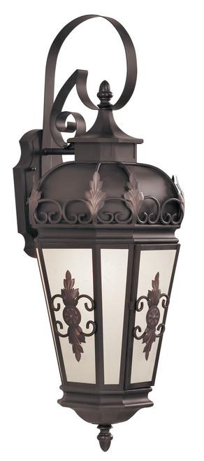LIVEX Lighting 2193-07 Berkshire Outdoor Wall Lantern in Bronze (1 Light)
