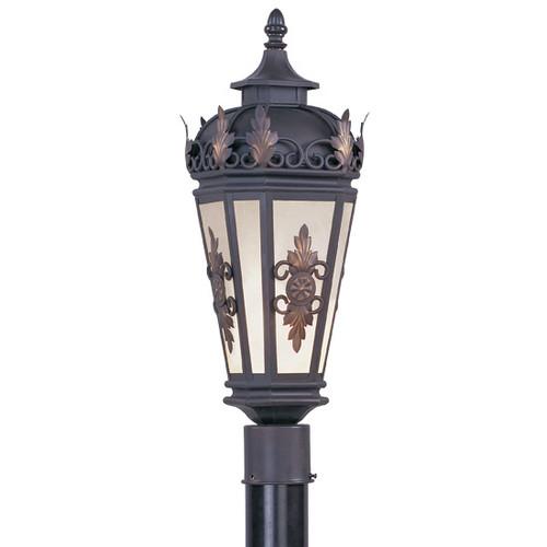 LIVEX Lighting 2194-07 Berkshire Outdoor Post Lantern in Bronze (1 Light)
