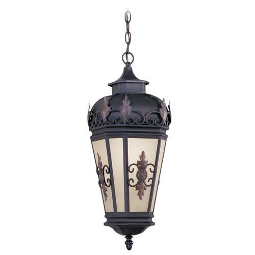 LIVEX Lighting 2195-07 Berkshire Outdoor Chain Lantern in Bronze (1 Light)