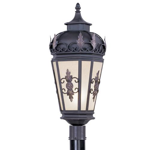 LIVEX Lighting 2198-07 Berkshire Outdoor Post Lantern in Bronze (1 Light)