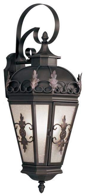 LIVEX Lighting 2196-07 Berkshire Outdoor Wall Lantern in Bronze (3 Light)