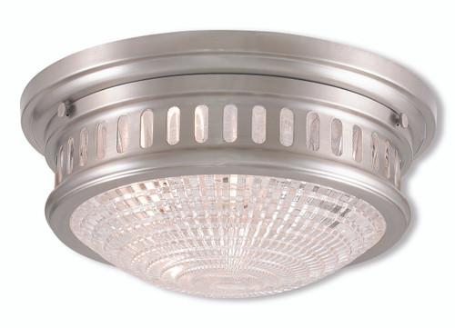 LIVEX Lighting 73052-91 Berwick Flushmount in Brushed Nickel (2 Light)