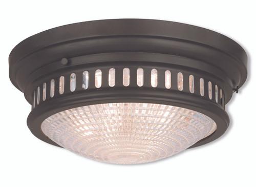 LIVEX Lighting 73053-07 Berwick Flushmount in Bronze (3 Light)