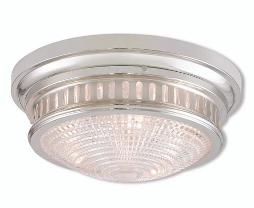 LIVEX Lighting 73053-35 Berwick Flushmount in Polished Nickel (3 Light)