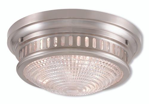LIVEX Lighting 73053-91 Berwick Flushmount in Brushed Nickel (3 Light)