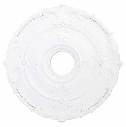 LIVEX Lighting 82031-03 Buckingham Ceiling Medallion in White