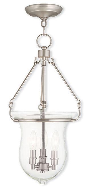 LIVEX Lighting 50296-91 Canterbury Pendant in Brushed Nickel (3 Light)