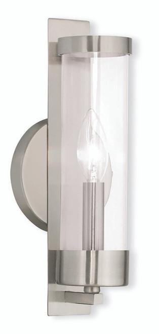 LIVEX Lighting 10141-91 Castleton Wall Sconce in Brushed Nickel (1 Light)