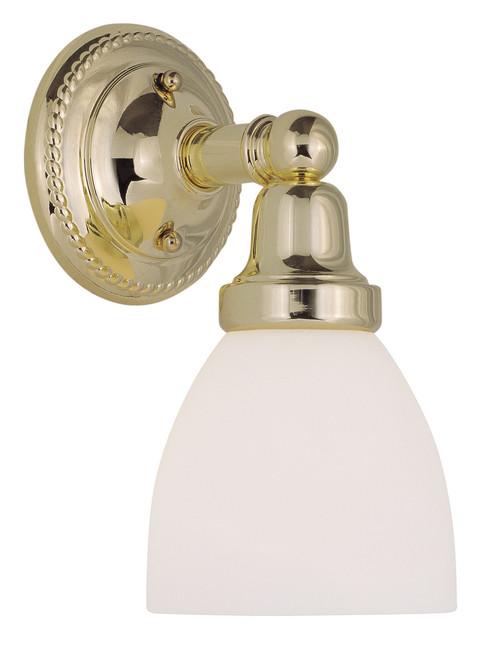 LIVEX Lighting 1021-02 Classic Bath Light in Polished Brass (1 Light)
