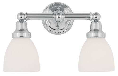LIVEX Lighting 1022-05 Classic Bath Light in Polished Chrome (2 Light)