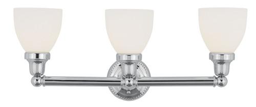 LIVEX Lighting 1023-05 Classic Bath Light in Polished Chrome (3 Light)