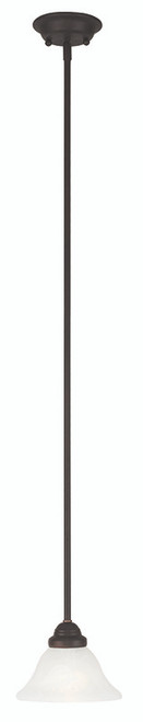 LIVEX Lighting 6110-07 Coronado Mini Pendant in Bronze (1 Light)