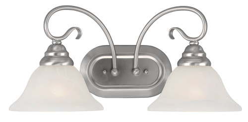 LIVEX Lighting 6102-91 Coronado Bath Light in Brushed Nickel (2 Light)