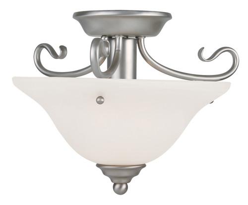 LIVEX Lighting 6109-91 Coronado Flushmount in Brushed Nickel (1 Light)