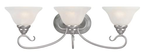 LIVEX Lighting 6103-91 Coronado Bath Light in Brushed Nickel (3 Light)
