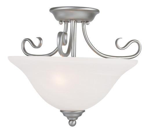 LIVEX Lighting 6121-91 Coronado Flushmount in Brushed Nickel (2 Light)