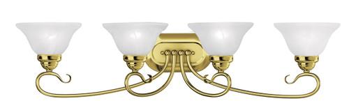 LIVEX Lighting 6104-02 Coronado Bath Light in Polished Brass (4 Light)