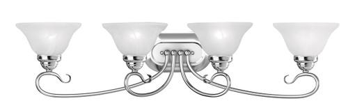 LIVEX Lighting 6104-05 Coronado Bath Light in Polished Chrome (4 Light)