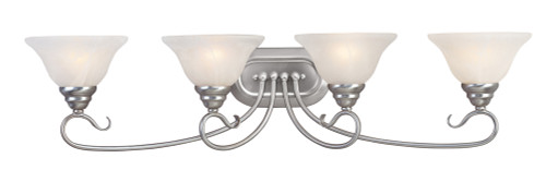 LIVEX Lighting 6104-91 Coronado Bath Light in Brushed Nickel (4 Light)