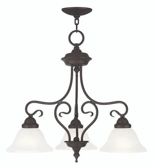 LIVEX Lighting 6133-07 Coronado Convertible Chain Hung Dinette/Flushmount in Bronze (3 Light)