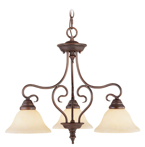 LIVEX Lighting 6133-58 Coronado Chandelier in Imperial Bronze (3 Light)