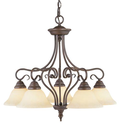LIVEX Lighting 6135-58 Coronado Chandelier in Imperial Bronze (5 Light)