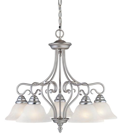 LIVEX Lighting 6135-91 Coronado Chandelier in Brushed Nickel (5 Light)
