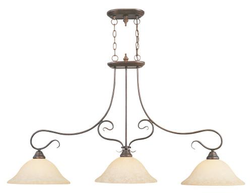 LIVEX Lighting 6108-58 Coronado Island Light in Imperial Bronze (3 Light)