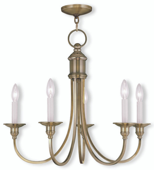LIVEX Lighting 5145-01 Cranford Chandelier in Antique Brass (5 Light)