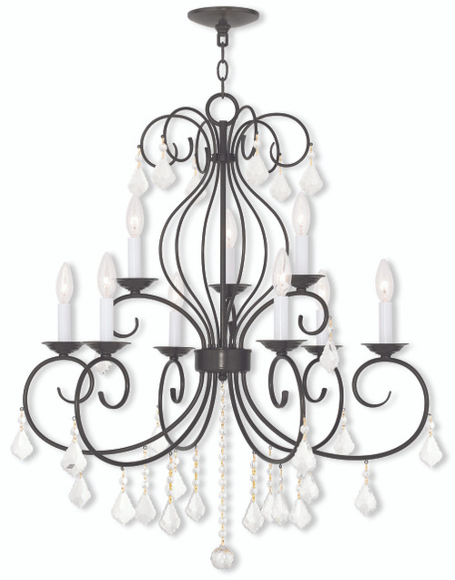 LIVEX Lighting 50769-92 Donatella Chandelier in English Bronze (9 Light)