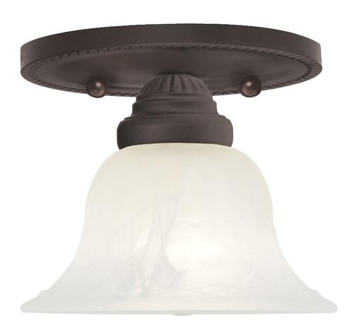 LIVEX Lighting 1530-07 Edgemont Flushmount in Bronze (1 Light)